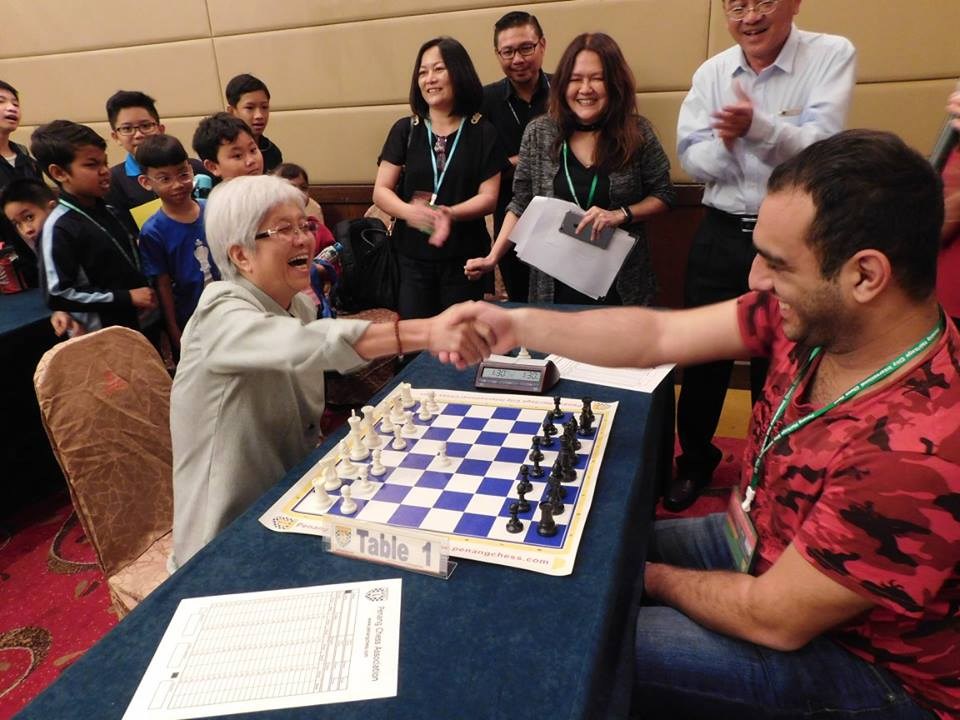 GM Karen Grigoryan seen here shaking hands with Y.B. Chong Eng