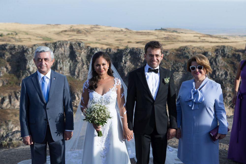 Serzh Sargsyan con su esposa Rita Sargsyan