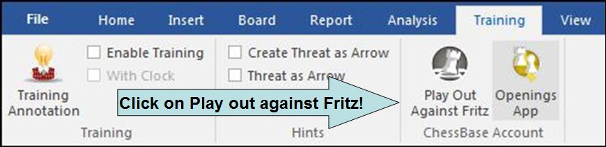 Click Play out against Fritz
