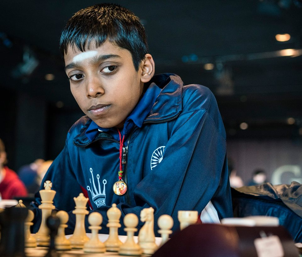 Praggnanandhaa at the Reykjavik Open 2018