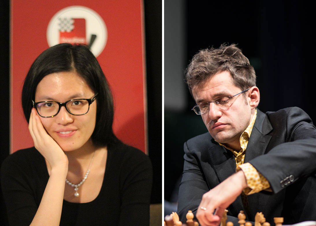 Hou Yifan and Levon Aronian