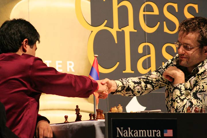 Nakamura and Aronian in 2009