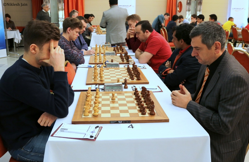 Game between Maxim Matlakov and Victor Bologan from the Aeroflot Open 2018