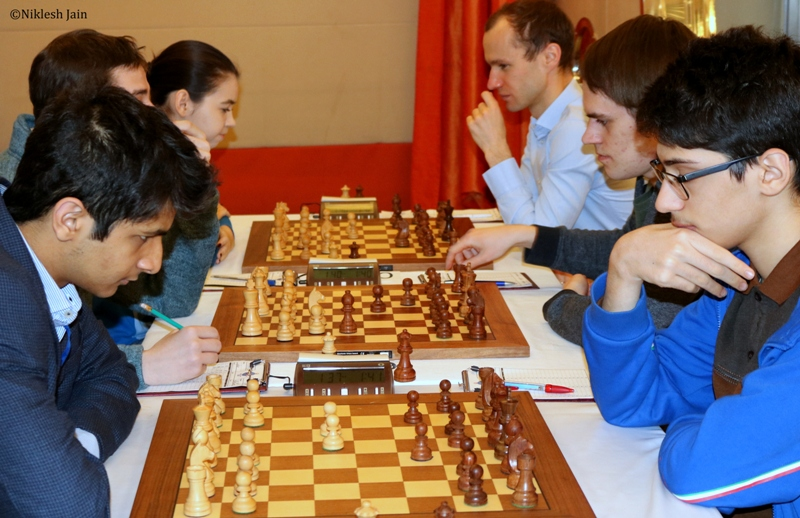 The game between Vidit Gujrathi and Firouzja Alireza from the seventh round of the Aeroflot Open 2017