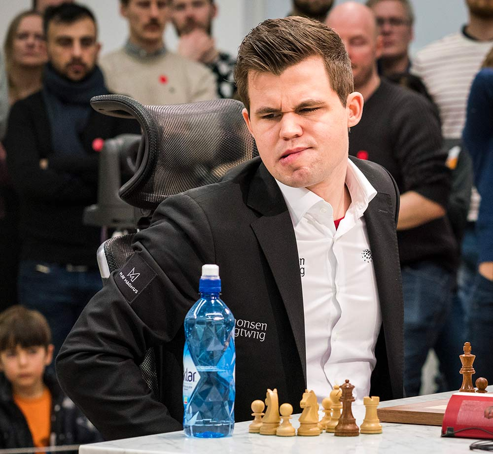 Carlsen during game 7