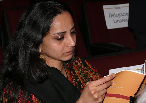 Aruna with book