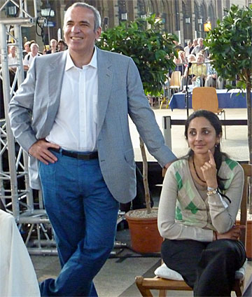 Kasparov and Aruna