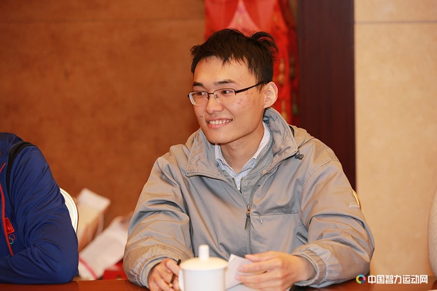 Yu Yangyi during the technical meeting of the match