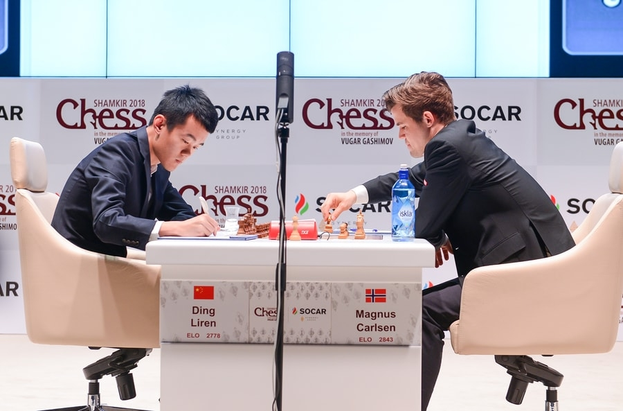 Ding and Carlsen