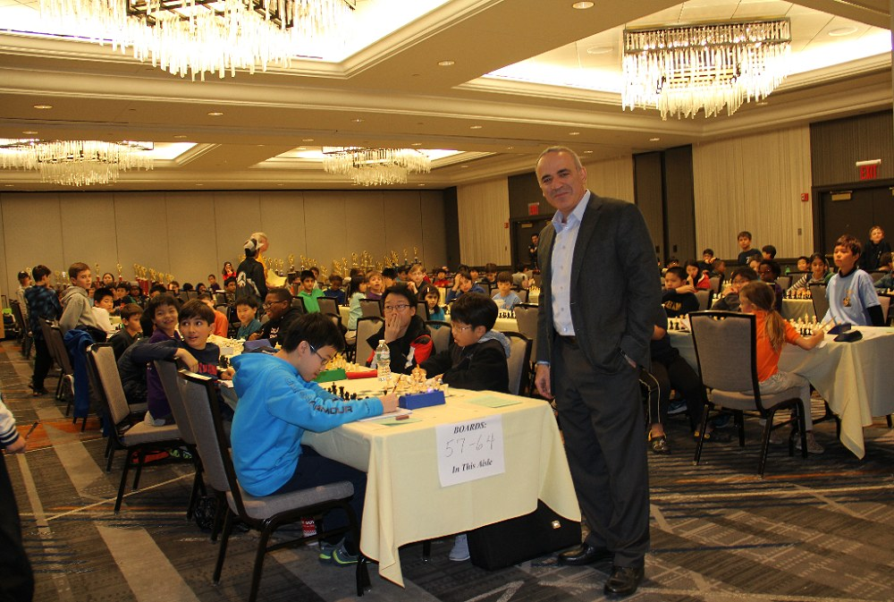 Kasparov at scholastic tournament