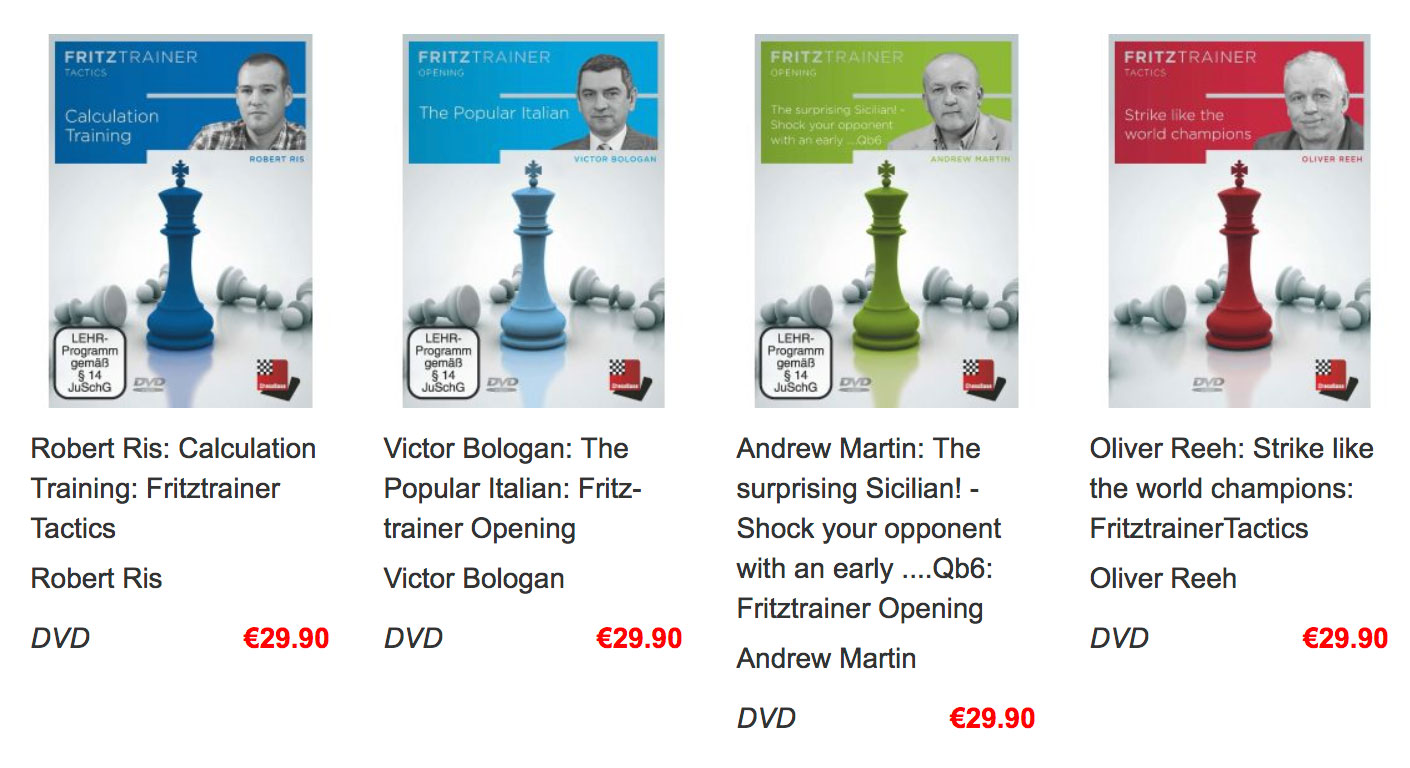 Recent ChessBase DVDs