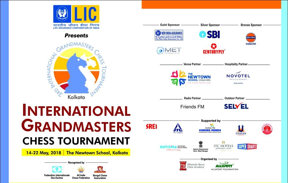 Brochure of the 3rd Kolkata International Chess Tournament.