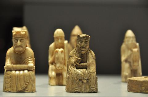 old chess pieces