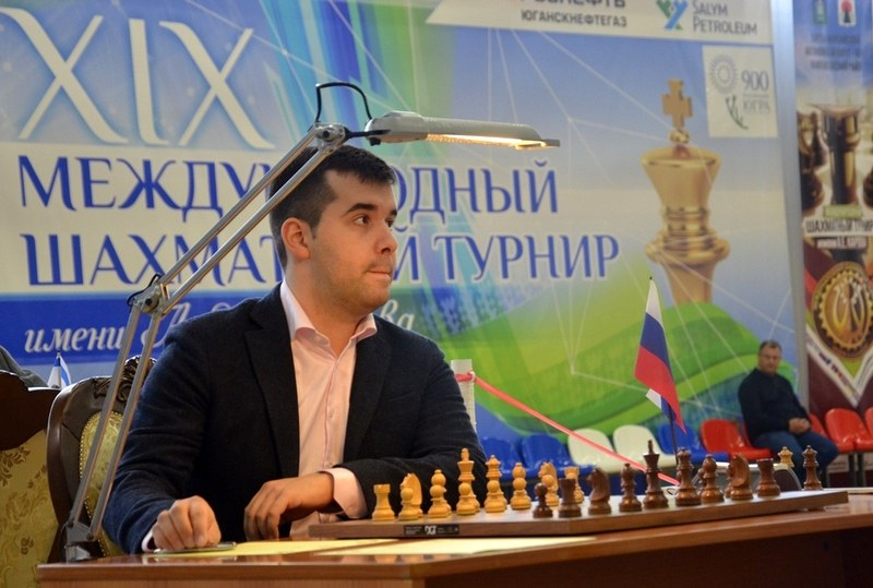 Ian Nepomniachtchi during his second round game against Emil Sutovsky at the Karpov Poikovsky International