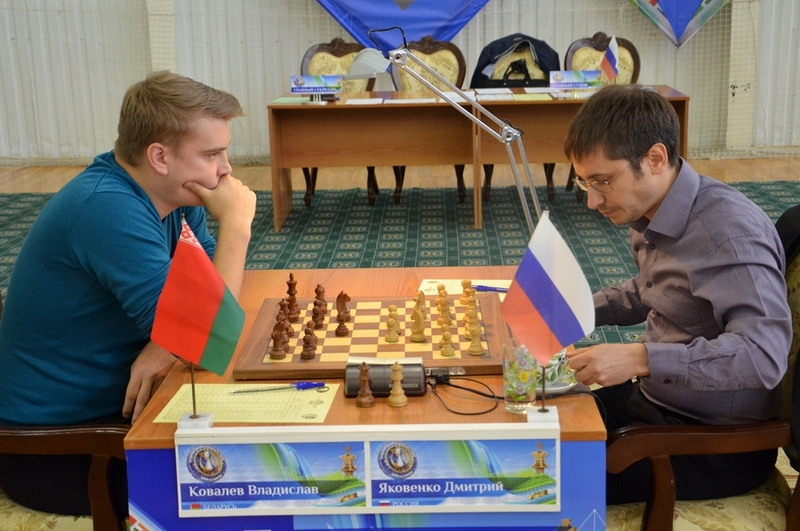 Dmitry Jakovenko during his penultimate round game against Vladislav Kovalev at the Karpov Poikovsky International