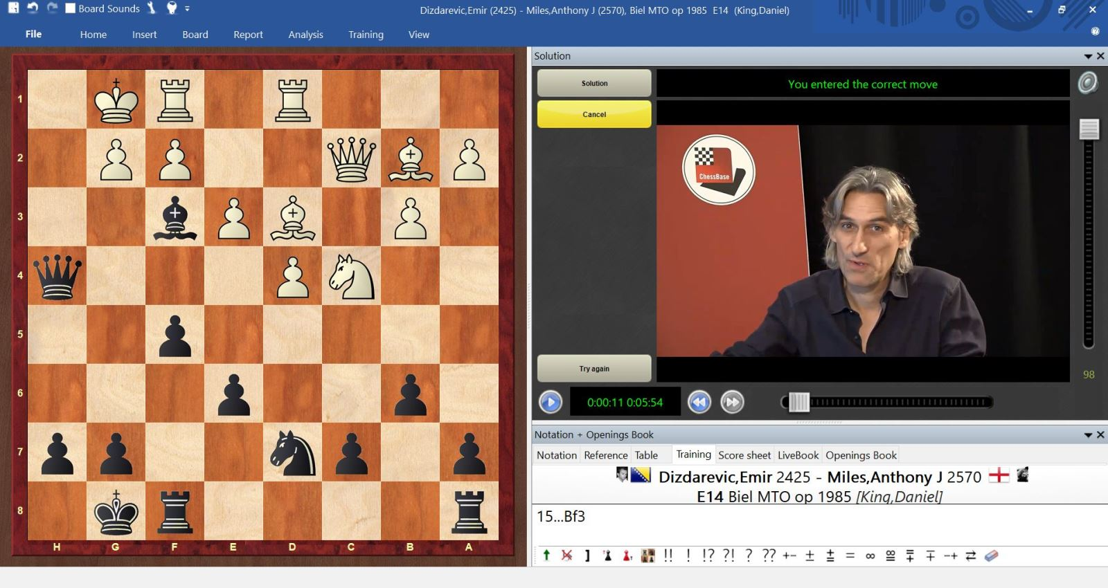 A snippet from Daniel King's DVD, Powerplay 26 Checkmate Challenge - essential knowledge
