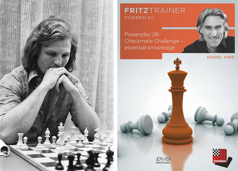 cover of GM Daniel King's DVD, Poweplay 26: Checkmate Challenge -- essential knowledge