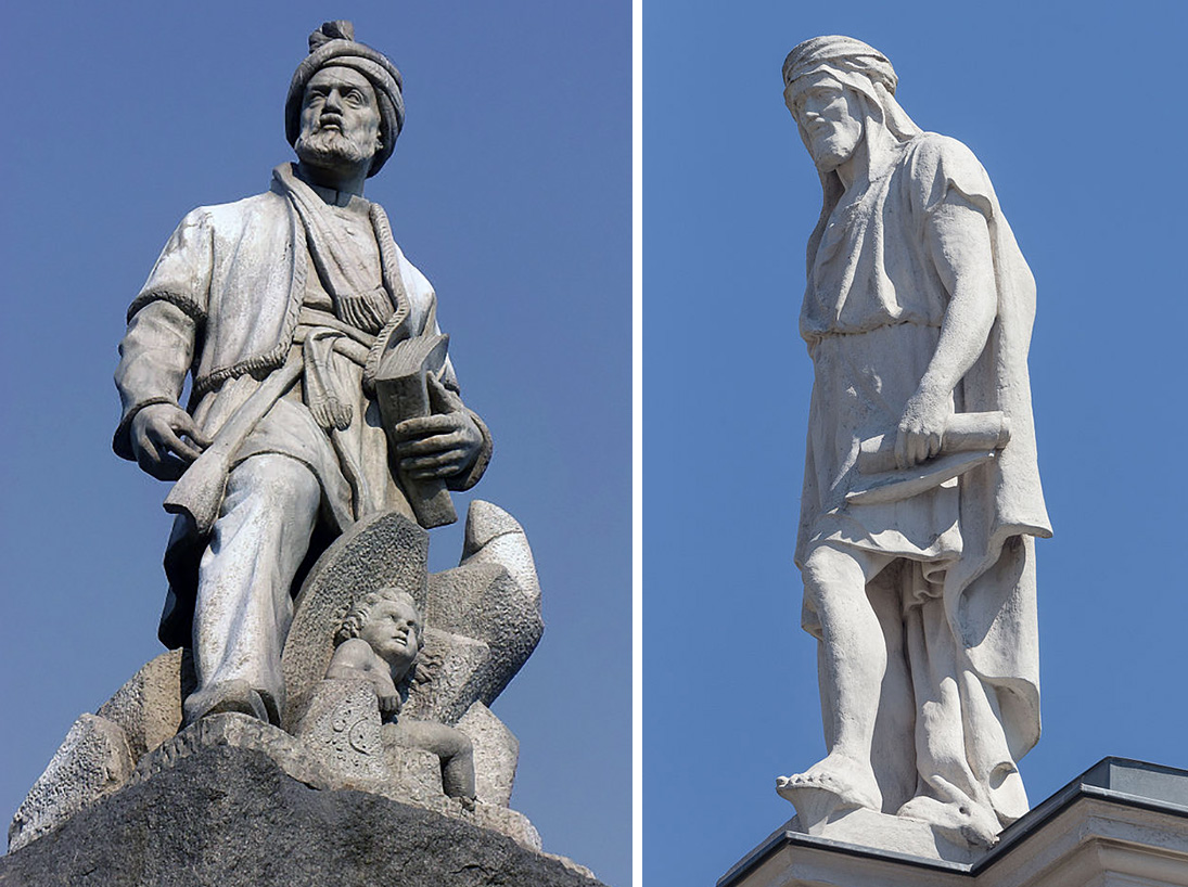 Ferdowsi and Al Masudi statues