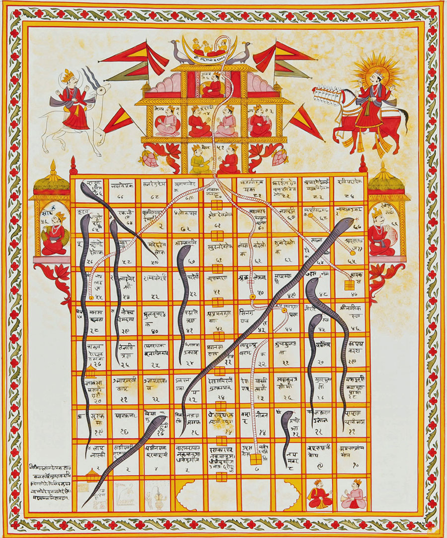 Gyan chauper or Snakes and Ladders