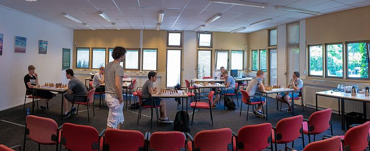 Playing area of the Schaakweek Apeldoorn GM tournament