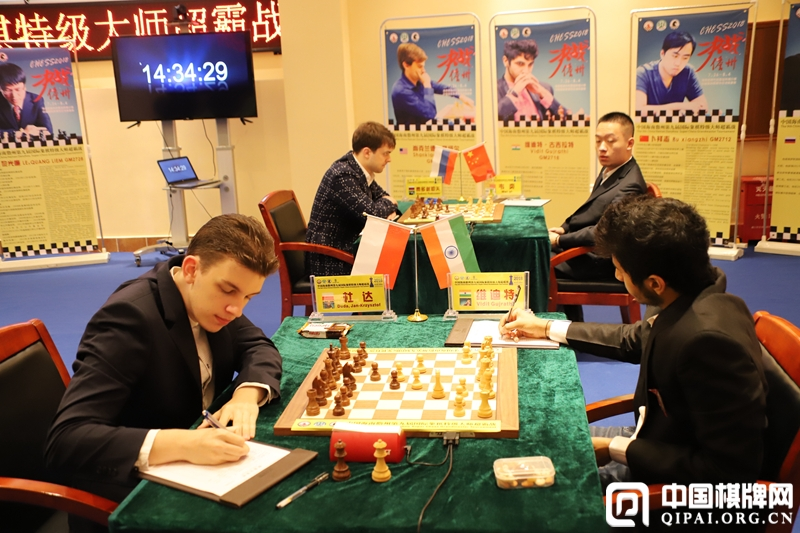 Vidit Gujrathi during his first round game against Jan-Krzysztof Duda at the Danzhou Masters 2018