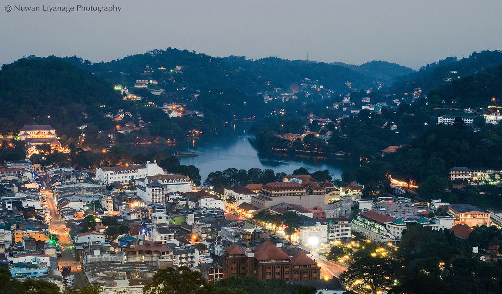 Aerial view of Kandy