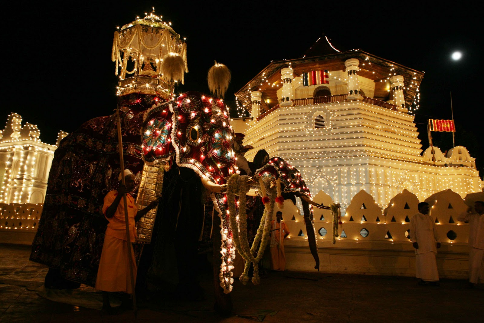 Temple of Tooth relic during the Essala Perahera, the festival of the Tooth
