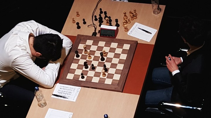 Kramnik with head down