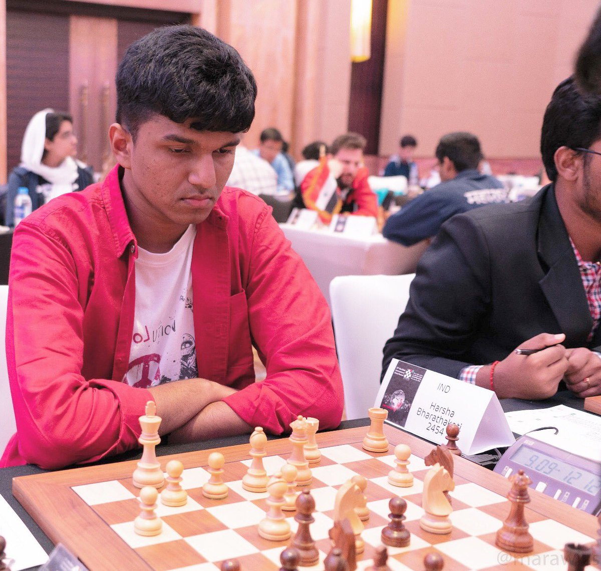 Harsha Bharathakoti at the Abu Dhabi Masters 2018