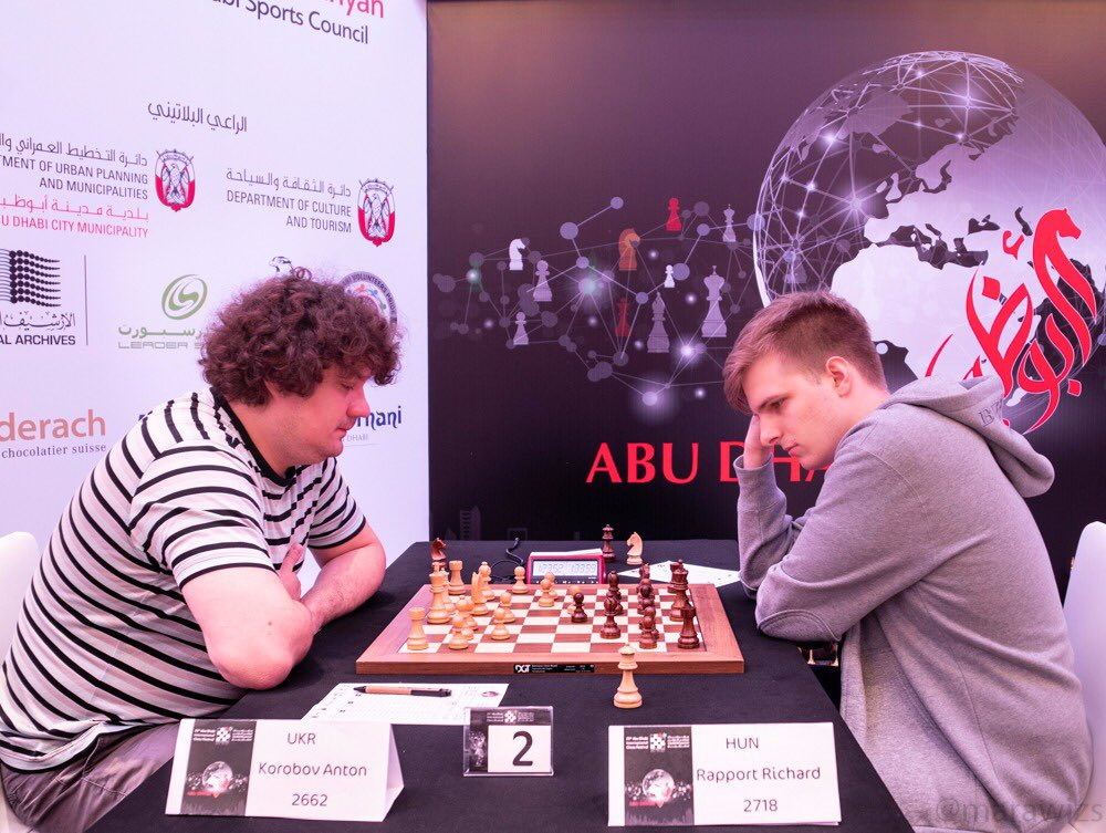 Anton Korobov during his eighth round game against Richard Rapport