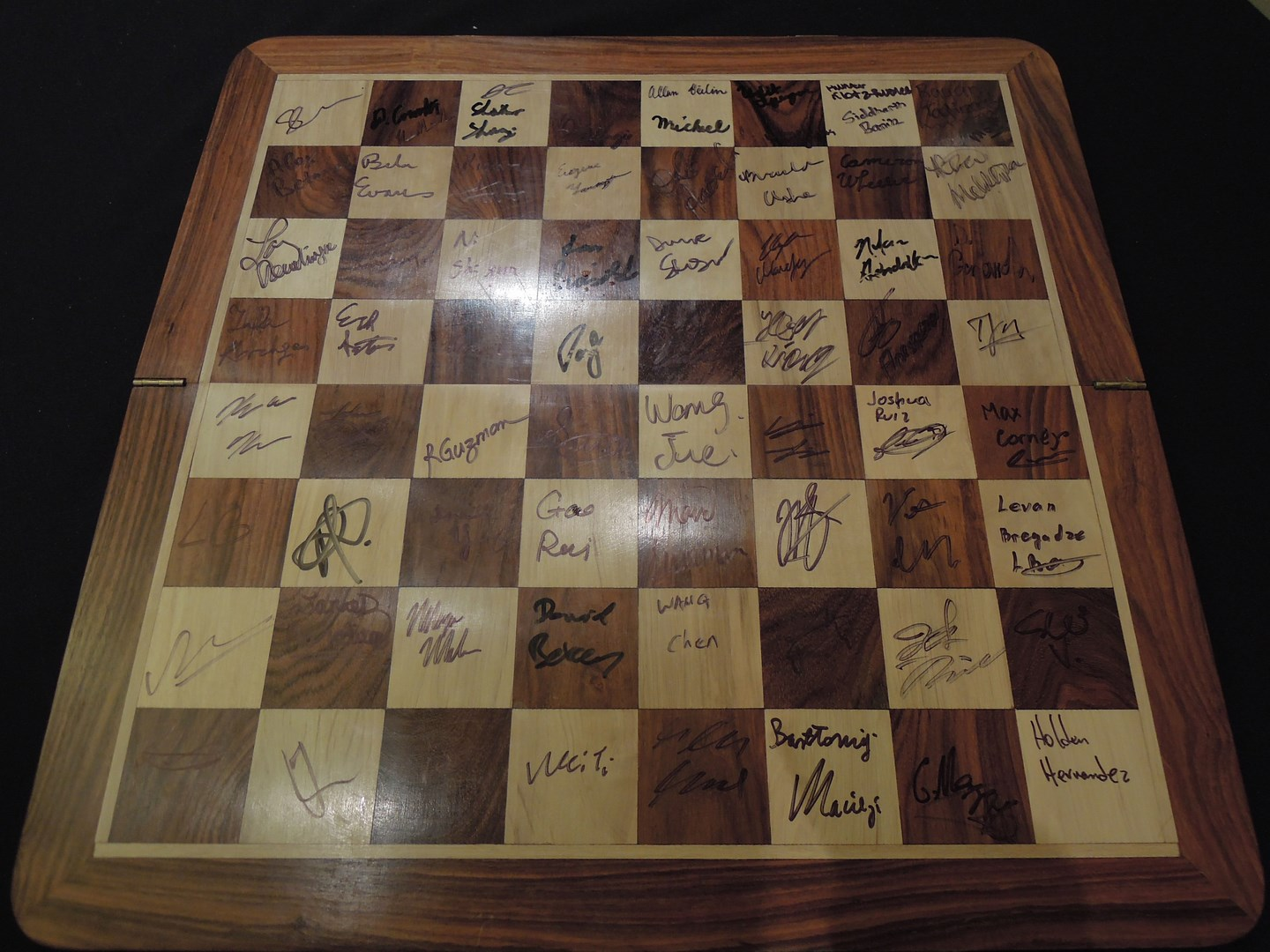Signed board