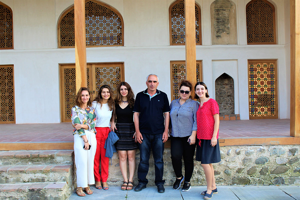 Keti, Bela, Sopiko, Salome with one of the organizers Zurab Teimurazishvili from Telavi Sports Clubs Union