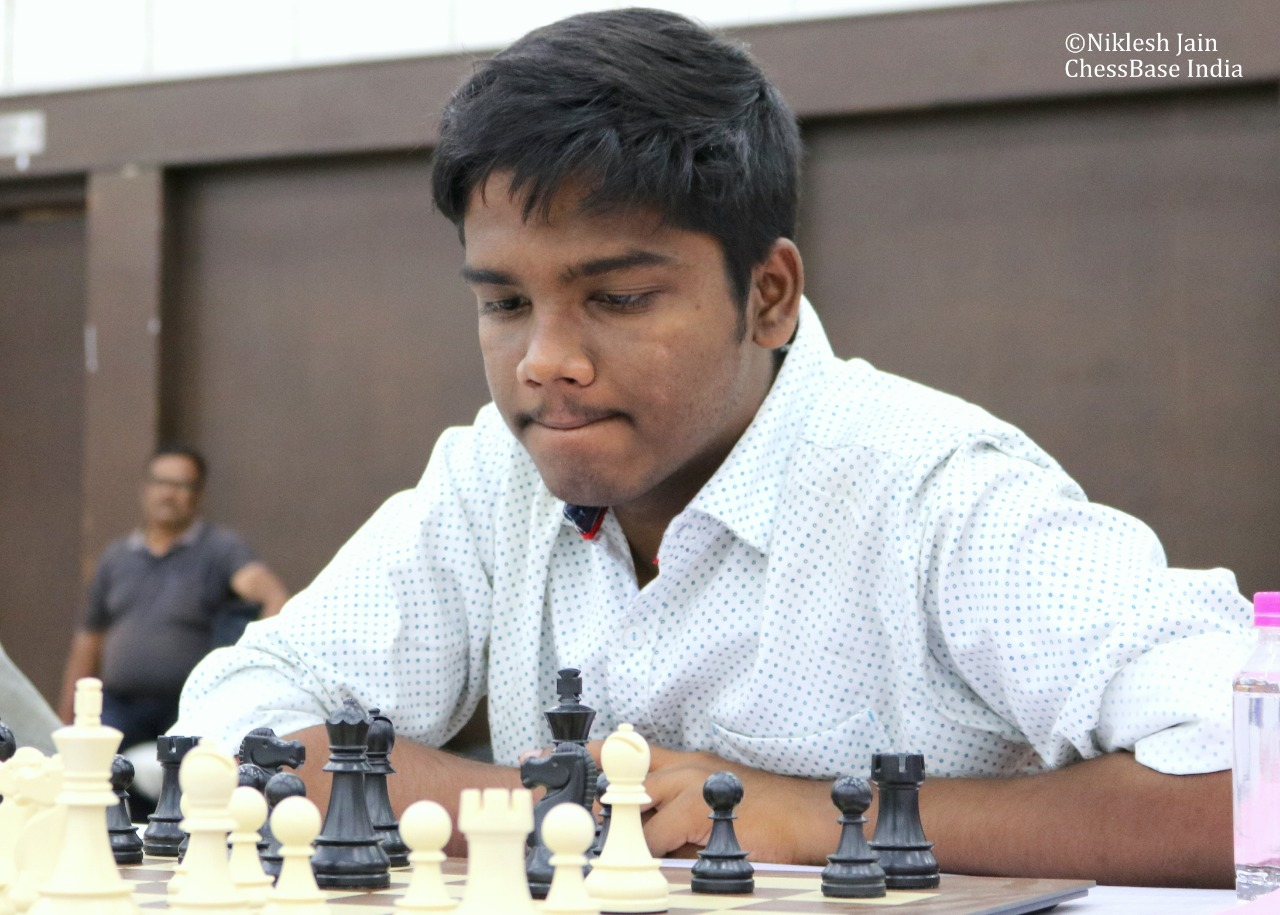 IM Vignesh NR at the 1st Gujarat GM Open 2018
