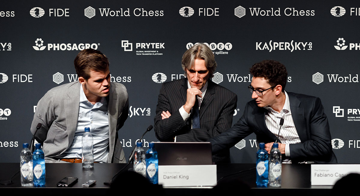 Carlsen, King and Caruana