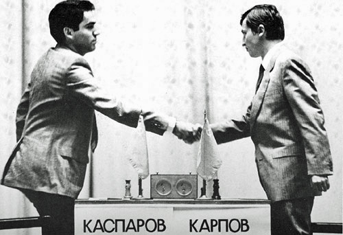 Kasparov and Karpov in 1985