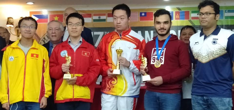 Top five finishers at the Asian Continental Championship 2018