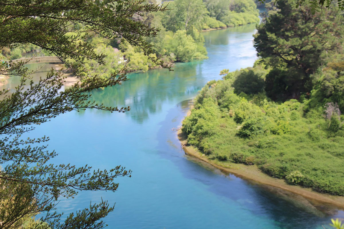 Waikato river New Zealand north island