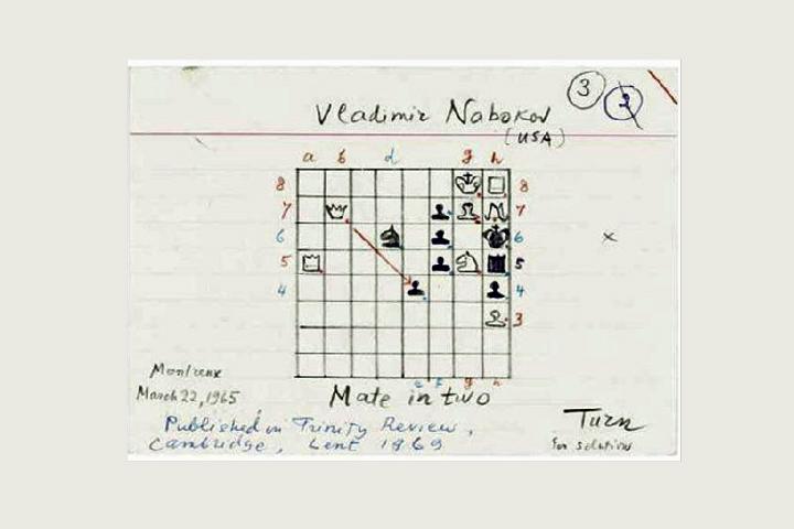 Image result for vladimir nabokov chess problem