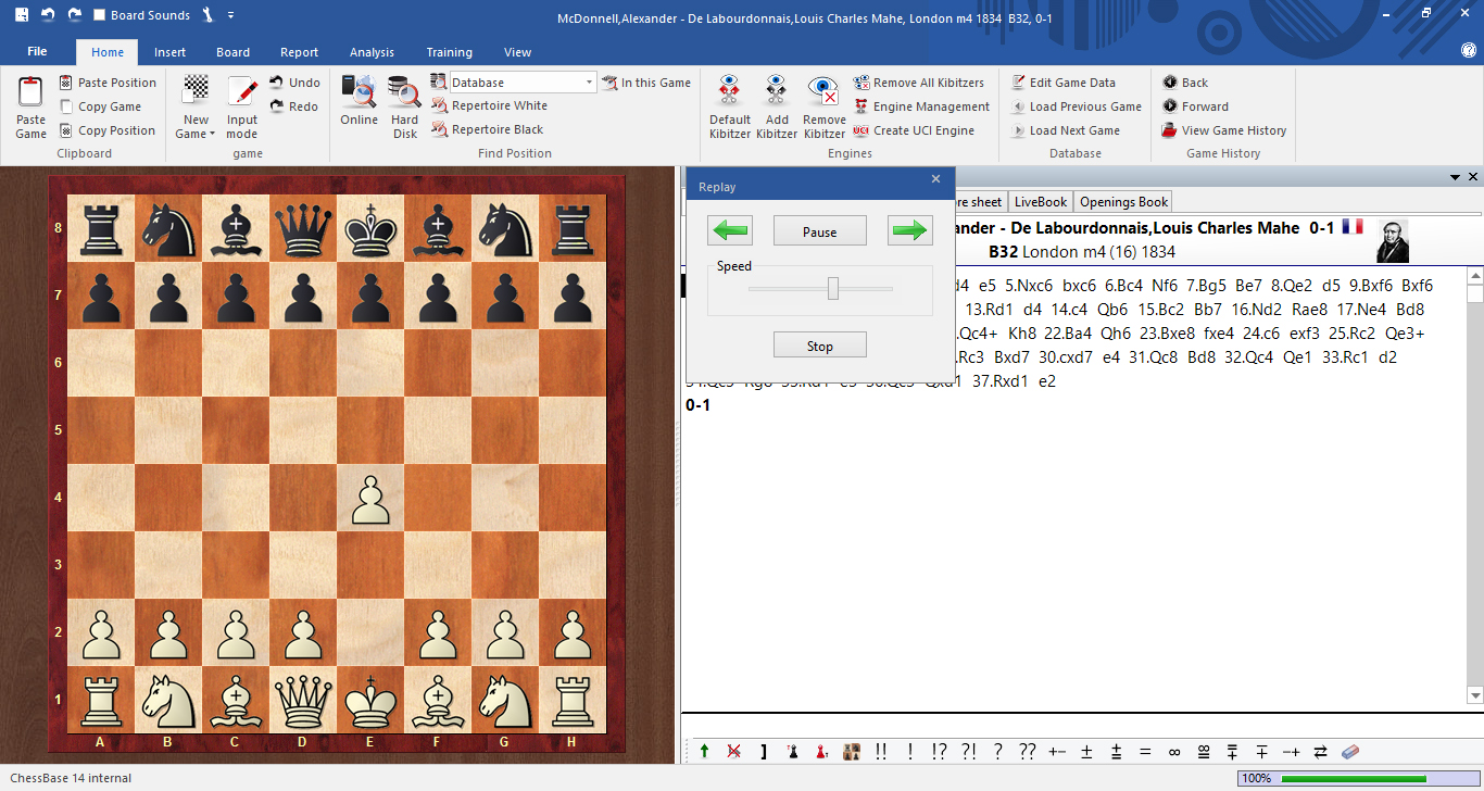 Relax and replay games automatically | ChessBase