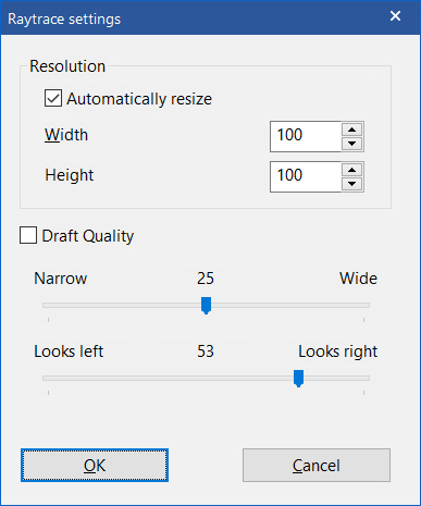 Raytrace settings