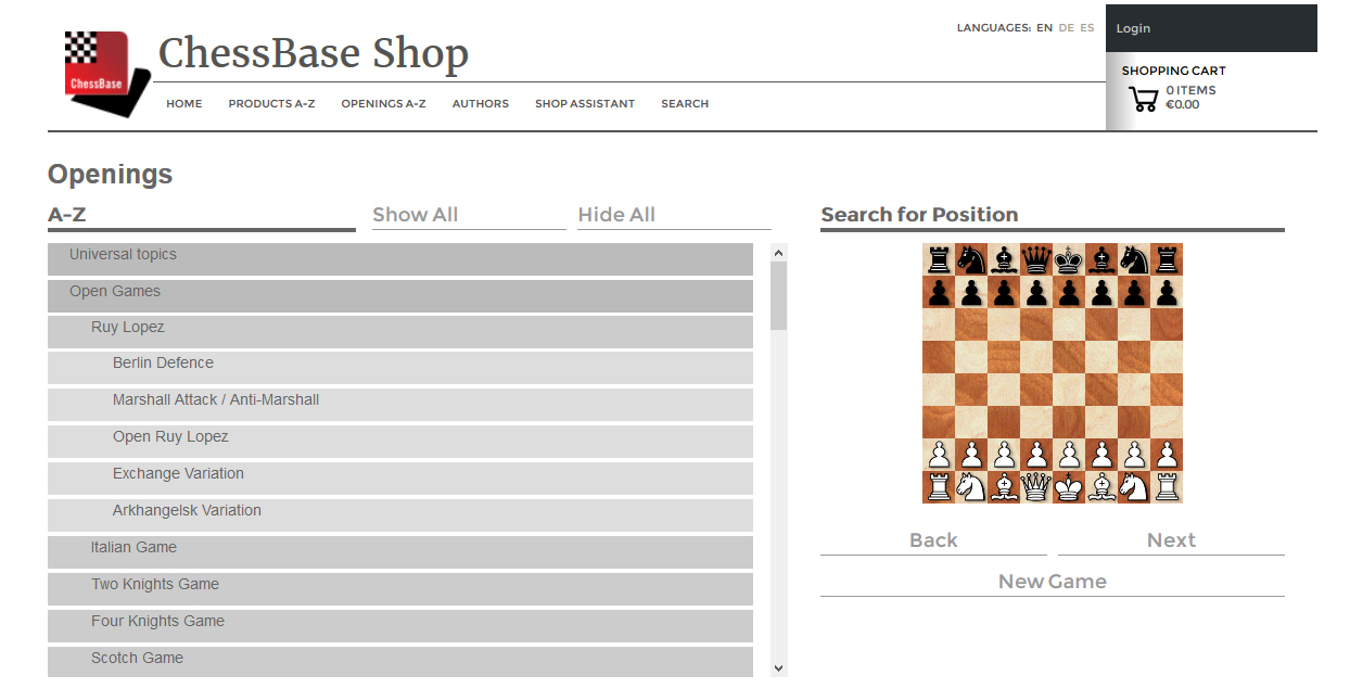 Welcome to the new ChessBase Shop! | ChessBase