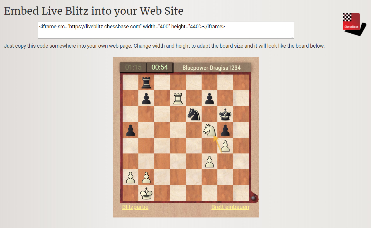 Must-have: ChessBase tools for your website | ChessBase