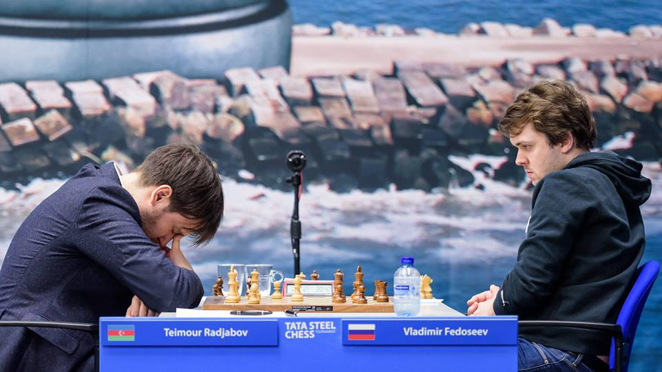 Teimour Radjabov y Vladimir Fedoseev | Foto: Alina l'Ami