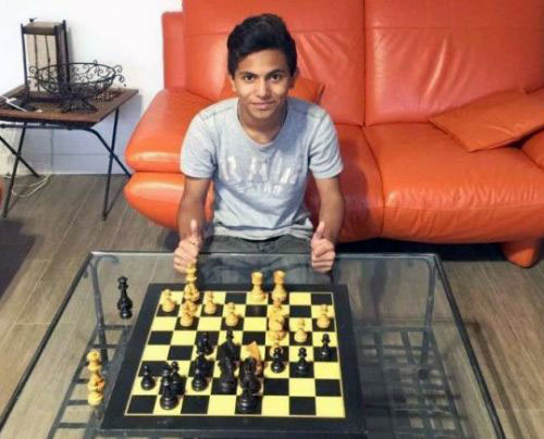 Fahim with chess board