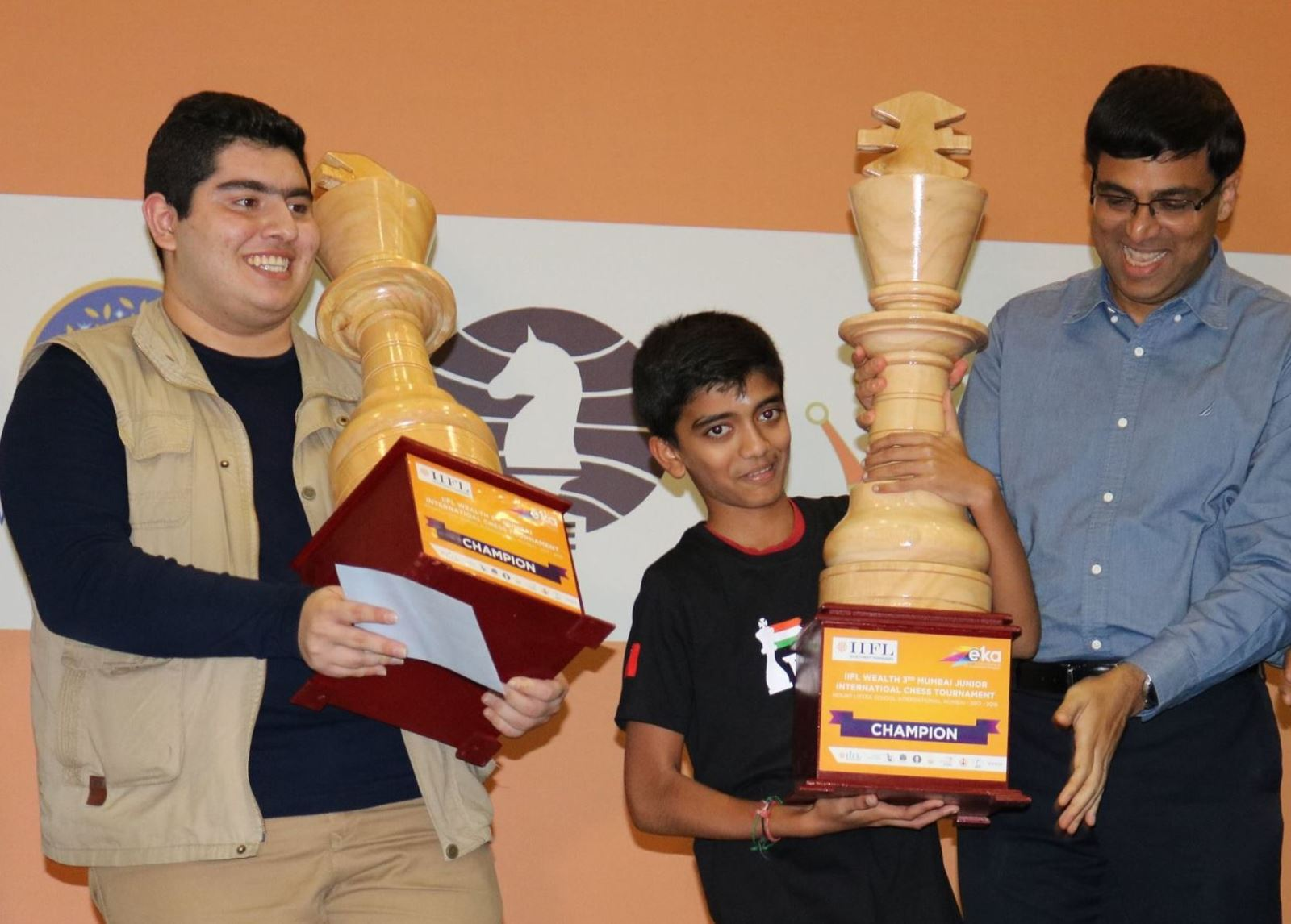Parham Maghsoodloo, Gukesh and Anand