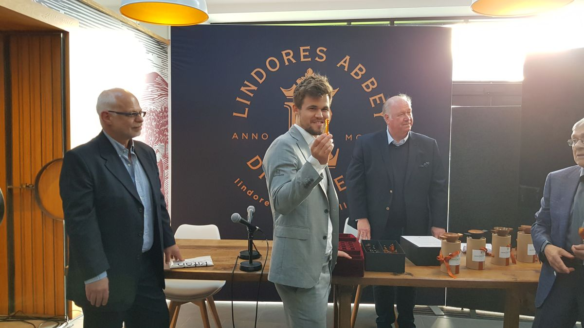 All eyes on Lindores Abbey as Carlsen, Anand & co  gather for a two