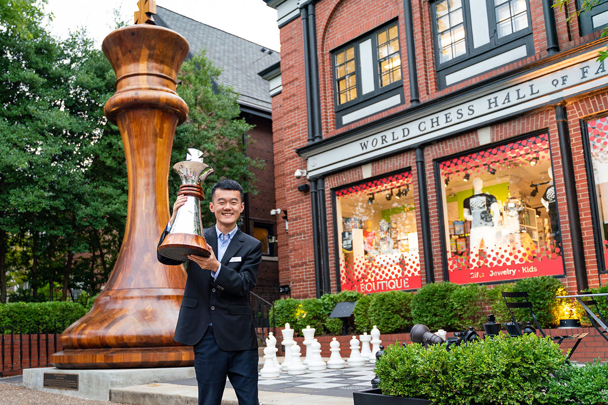 Ding with trophy