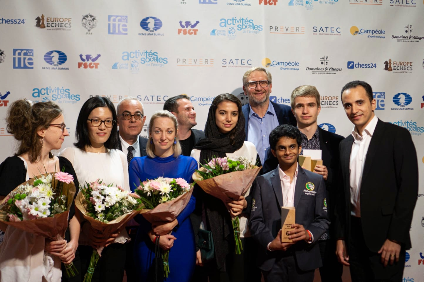 Players in the Karpov Trophy rapid event