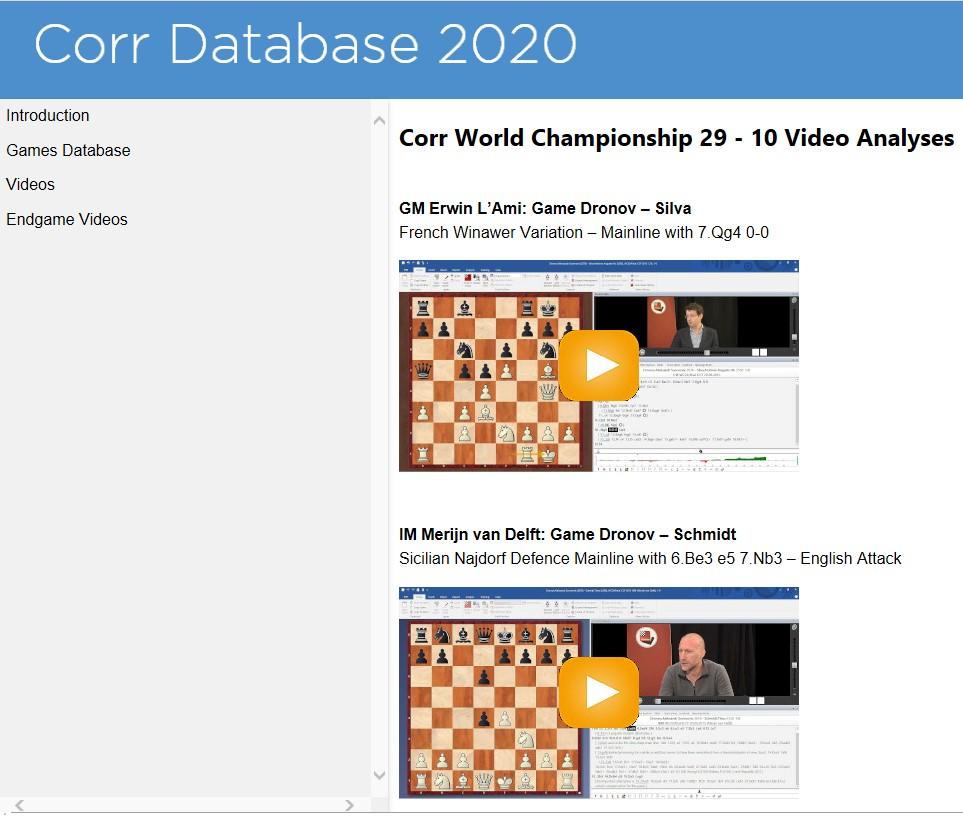 NEW: Correspondence Database 2020   ChessBase