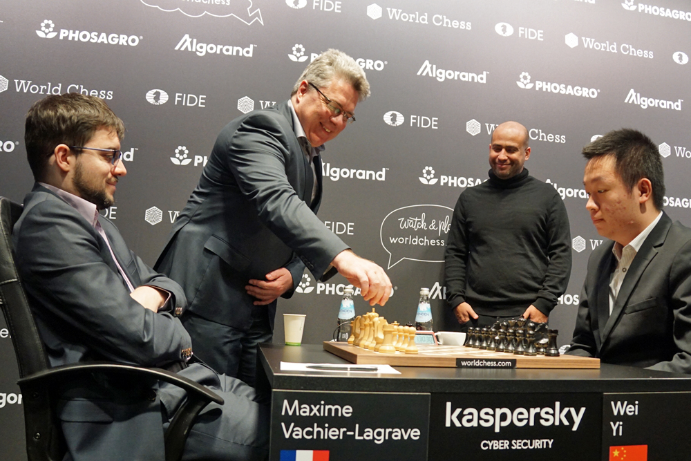 Ulrich Krause, Maxime Vachier-Lagrave, Wei Yi